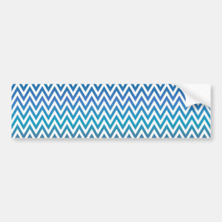 zigzag, colorful, funny, blue and green bumper sticker
