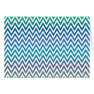 zigzag, colorful, funny, blue and green card
