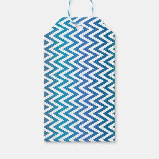 zigzag, colorful, funny, blue and green gift tags