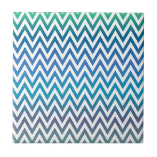 zigzag, colorful, funny, blue and green tile
