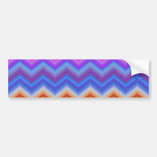 zigzag, colorful, funny bumper sticker