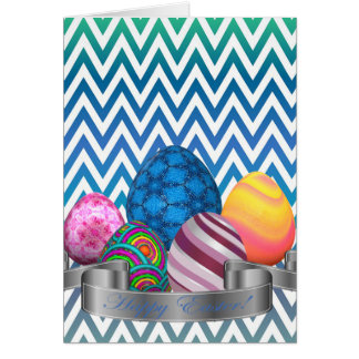 Zigzag, Colorful, Funny, Easter Card