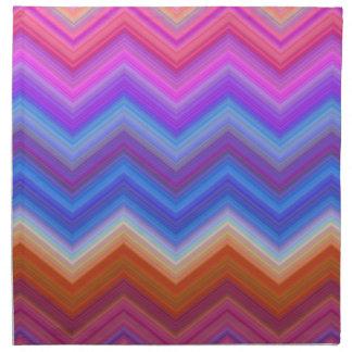 zigzag, colorful, funny napkin