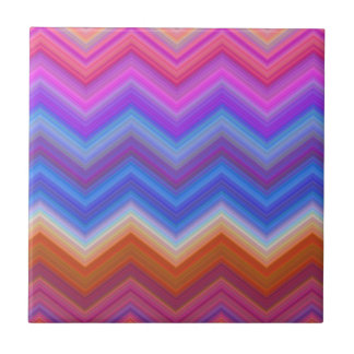 zigzag, colorful, funny tile