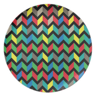ZigZag Colorful Plate