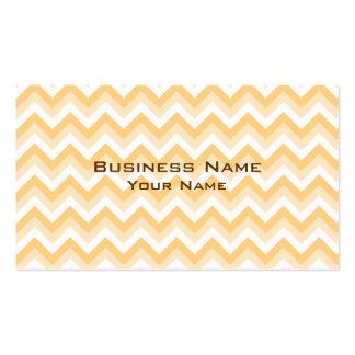 Zigzag dans bronzage chaud, le beige et le blanc carte de visite standard