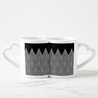 Zigzag Diamond Chevron Tribal pattern Coffee Mug Set