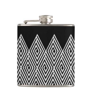 Zigzag Diamond Chevron Tribal pattern Flasks