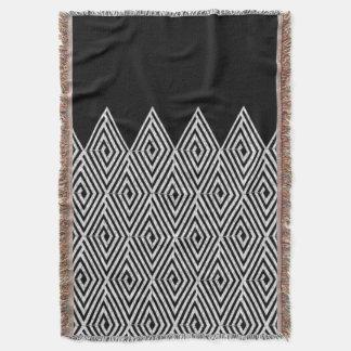 Zigzag Diamond Chevron Tribal pattern Throw