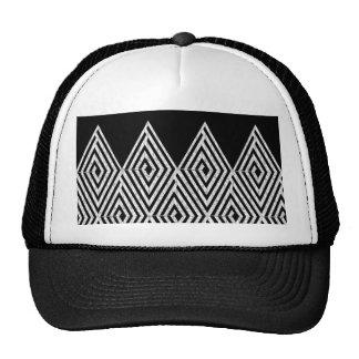 Zigzag Diamond Chevron Tribal pattern Trucker Hat