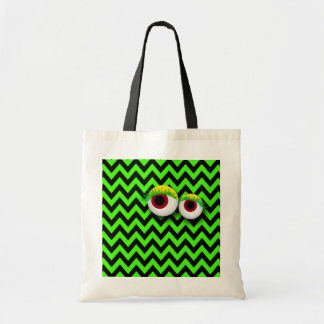 ZIGZAG eYe MONSTER: GReeN Tote Bag