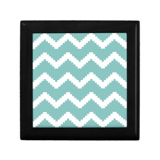 Zigzag geometric pattern - blue and white. gift box