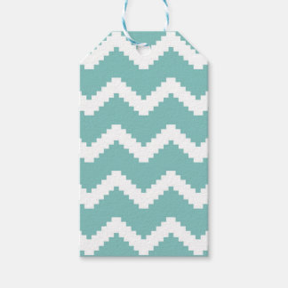 Zigzag geometric pattern - blue and white. gift tags