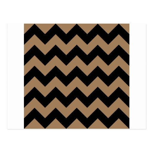 Zigzag I - Black and Pale Brown Post Card