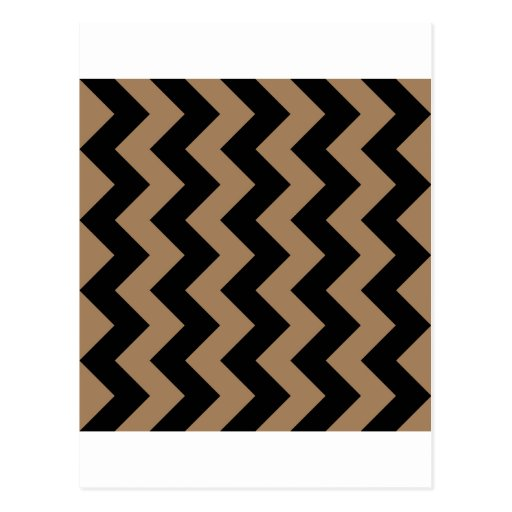 Zigzag I - Black and Pale Brown Post Cards