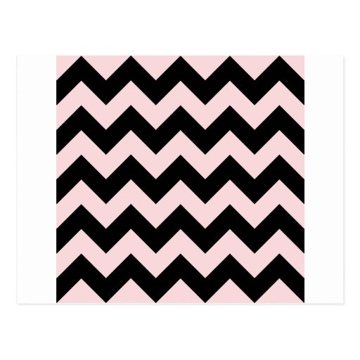 Zigzag I - Black and Pale Pink Post Cards