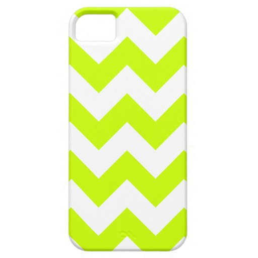 Zigzag I - White and Fluorescent Yellow iPhone 5 Cases