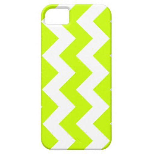 Zigzag I - White and Fluorescent Yellow iPhone 5 Cover