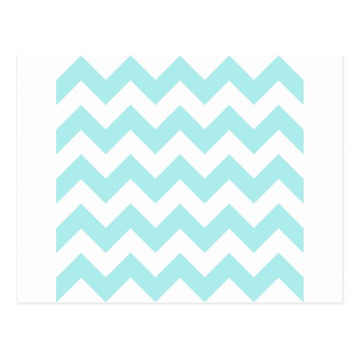 Zigzag I - White and Pale Blue Postcard