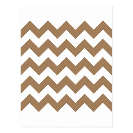 Zigzag I - White and Pale Brown Post Card