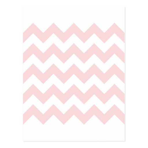 Zigzag I - White and Pale Pink Post Cards