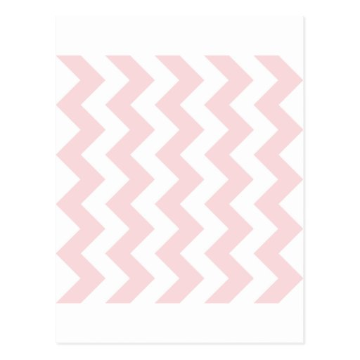 Zigzag I - White and Pale Pink Postcards