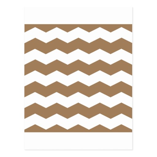 Zigzag II - White and Pale Brown Postcards