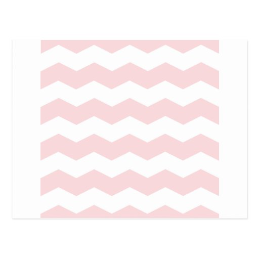 Zigzag II - White and Pale Pink Post Card