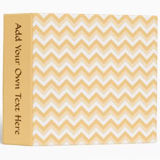 Zigzag in warm tan, beige and white. binder
