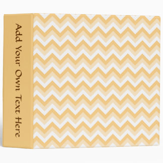 Zigzag in warm tan, beige and white. vinyl binders