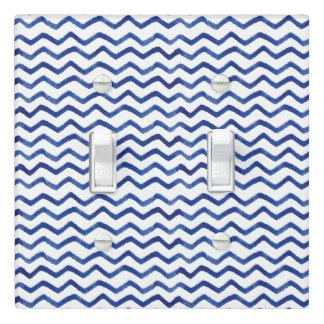 Zigzag Indigo Blue Pattern | Light Switch Cover