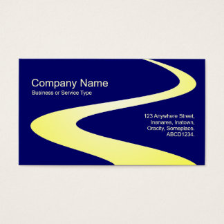 ZigZag Path - Shades of Yellow on Dark Blue Business Card