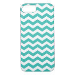 Zigzag Pattern Aqua Blue Chevron iPhone 7 Case