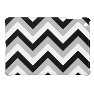 Zigzag Pattern Black Grey White iPad Mini Cover