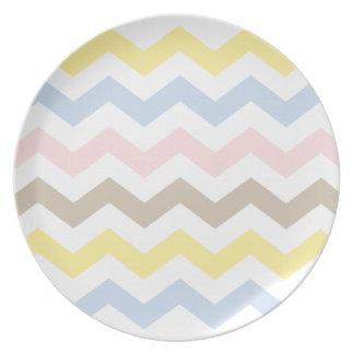 Zigzag Pattern Dinner Plates