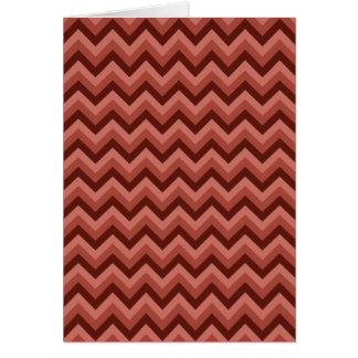 Zigzag Pattern in Cool Shades of Red Card
