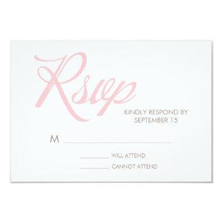 Zigzag Pattern Wedding Response Card