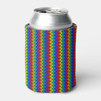 Zigzag Rainbow Can Cooler