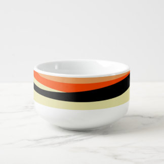 Zigzag Soup Bowl With Handle