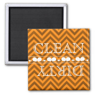 Zigzag Style Dishwasher Magnet Clean & Dirty
