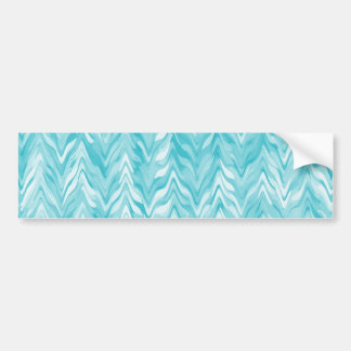 zigzag, watercolor, elegant, stylish bumper sticker