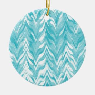 zigzag, watercolor, elegant, stylish ceramic ornament
