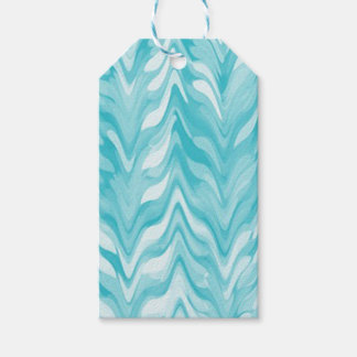 zigzag, watercolor, elegant, stylish gift tags