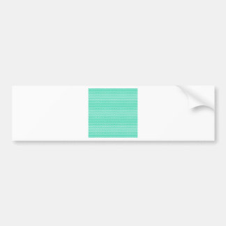Zigzag - White and Caribbean Green Bumper Stickers
