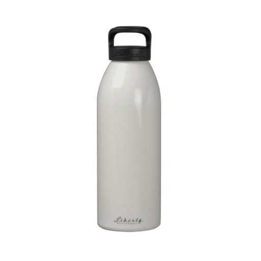 Zigzag - White and Champagne Water Bottle