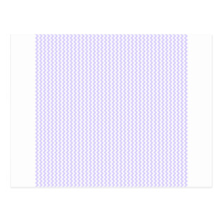 Zigzag - White and Pale Lavender Post Card