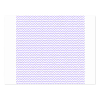 Zigzag - White and Pale Lavender Postcard
