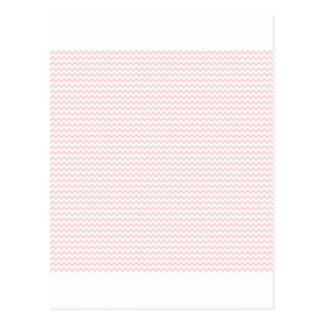 Zigzag - White and Pale Pink Postcards
