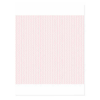 Zigzag - White and Pale Pink Post Cards