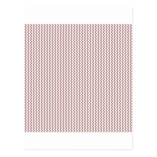 Zigzag - White and Rosy Brown Postcards